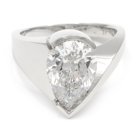 custom modern pear shaped engagement ring wixon jewelers