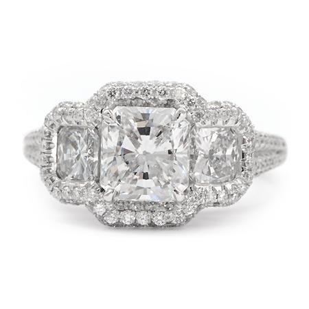 Pave Halo Engagement Ring Wedding Jewelry Wixon Jewelers