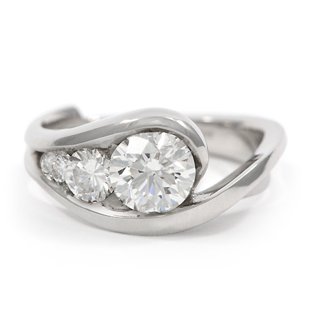 diamonds rings round shared setting halo low princess with engagement profile pronged