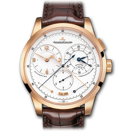 Duométre á Chronograph men's watch in Pink Gold by Jaeger LeCoultre