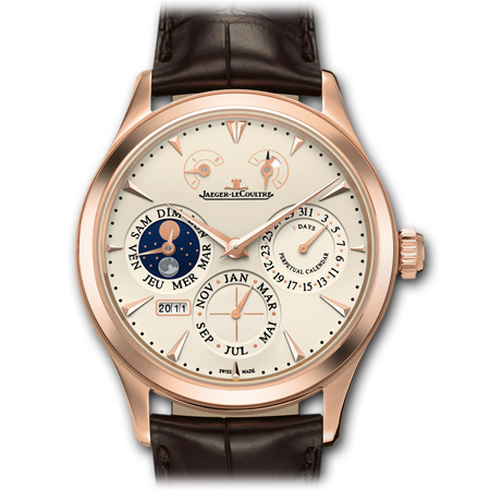 Perpetual Calendar Men's Watch - Jaeger LeCoultre Master 8 Days in Gold