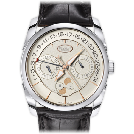 Parmigiani Fleurier Tonda Quator PFC272 Mens Watch White Gold