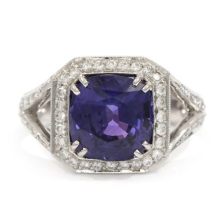 Purple Sapphire Ring Custom Gemstones Wixon Jewelers