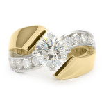 Yellow Gold Contemporary Engagement Ring