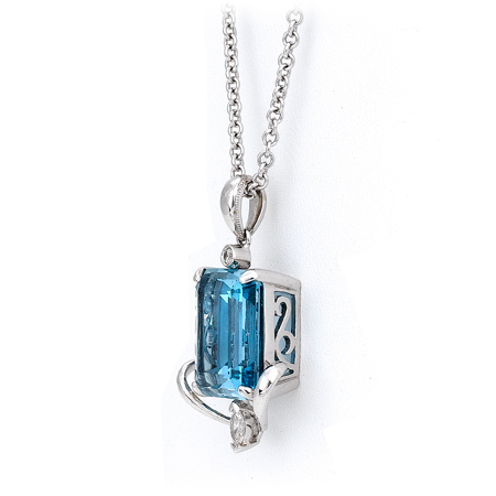 and silver topaz pendant gemstone necklace sterling product swiss natural tbargains blue