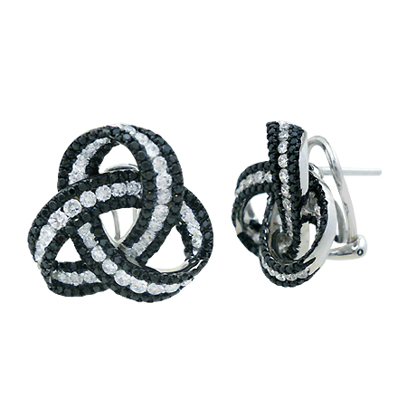 diamond earrings ctw black le