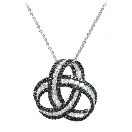 Black diamond pendant 123316 fashion jewelry wixon jewelers black white diamond pendant aloadofball Gallery