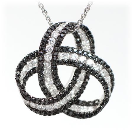 Black diamond pendant 123316 fashion jewelry wixon jewelers black white diamond pendant mozeypictures Gallery