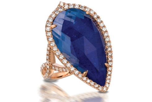 Blue Lapis Gemstone Ring