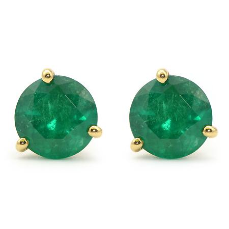 Columbian Emerald Stud Earrings