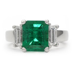 Emerald Cut Emerald Gemstone Ring