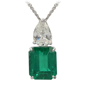 Emerald & Diamond Penant