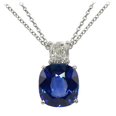 10 carat blue sapphire diamond pendant minnesota wixon jewelers deep blue sapphire pendant mozeypictures Choice Image