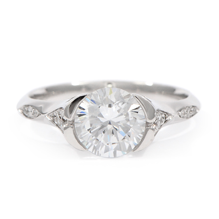format band sets wedding sapphire low ring profile dust and moissanite engagement fitted star rings