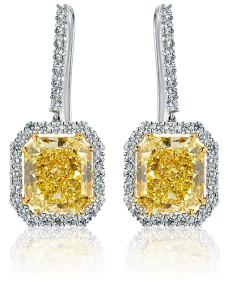 Yellow Diamond Earrings