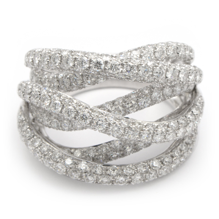 Diamond Band Fashion Rings Diamond Ropes Band