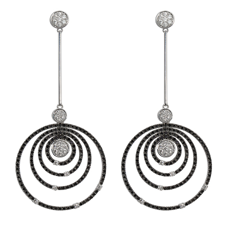 Black Diamond Drop Earrings from Roberto Coin