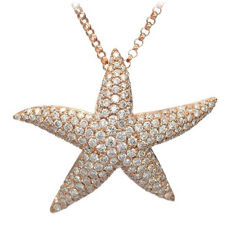 Rose Gold Starfish Diamond Pendant Fashion Jewelry Wixon Jewelers