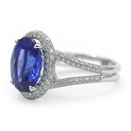 Blue Tanzanite Amp Diamond 18k Ring Minneapolis Mn