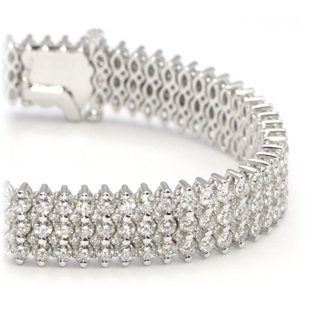 Wide Diamond Bracelet In White Gold Wixon Jewelers