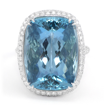 Brazilian Aquamarine Gemstone Ring Wixon Jewelers