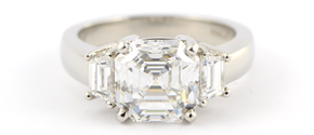 Custom Designed Asscher Engagement Ring