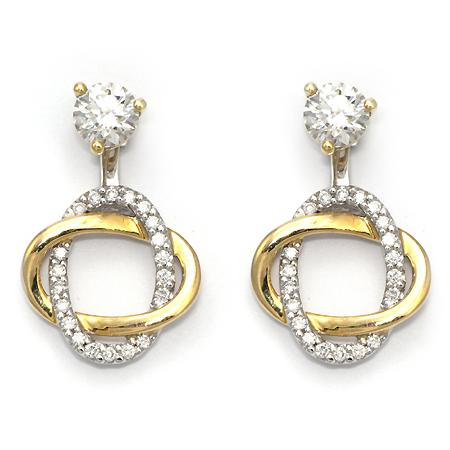 Diamond Stud Earring Jackets