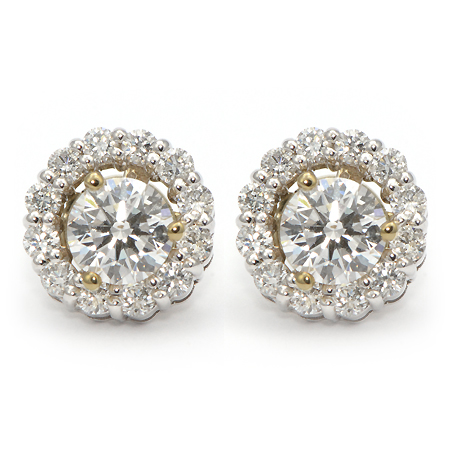 Diamond Stud Halo Earring Jackets