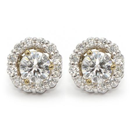 Diamond Stud Earring Jackets - Halo | Wixon Jewelers