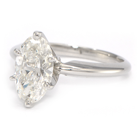 Oval Solitaire Engagement Ring 6 Prong Wixon Jewelers