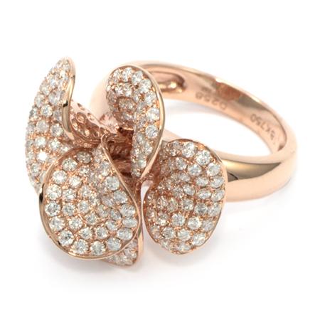 Tudor Rose Flower Gold Ring