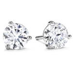 Round Brilliant Cut Diamond Stud Earrings