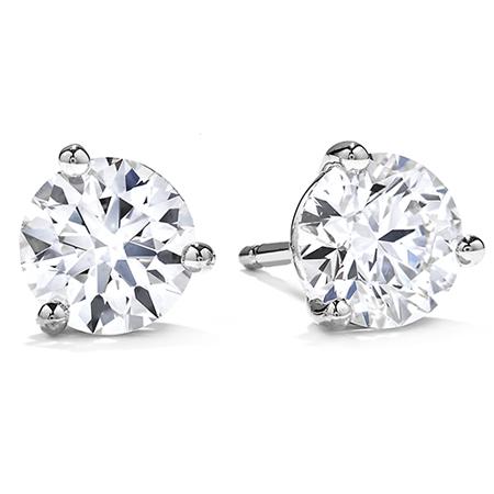 Round Brilliant Cut Diamond Stud Earrings