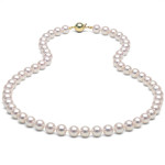 Rose Colored Pearl Necklace
