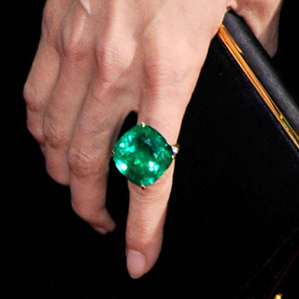 Angelina Jolie Emerald Ring At The Oscars
