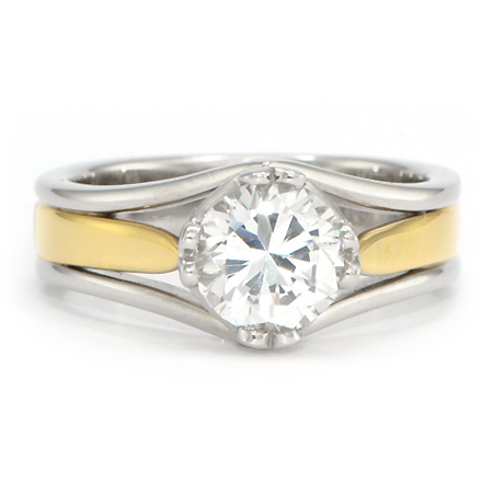 TwoTone Yellow Gold Engagement Ring Wixon Jewelers