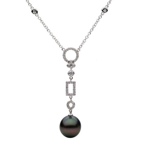 Tahitian pearl jewelry necklaces strands wixon jewelers tahitian pearl dangle necklace aloadofball Image collections