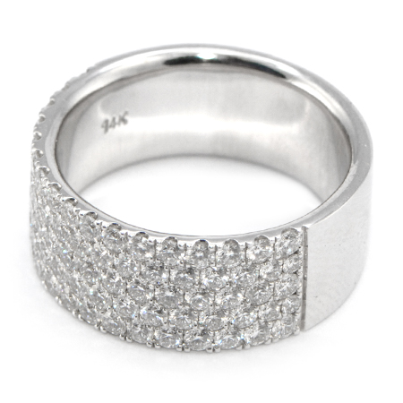 pav diamond wb half wedding comfort domed white bands way pave platinum band french in fit gold