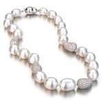 White Broroque Pearl Necklace