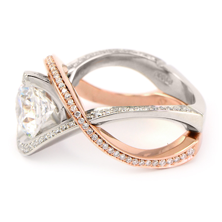 Rose Gold Engagement Ring Wedding Band Set Wixon Jewelers