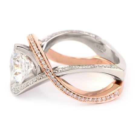 Rose Gold Engagement Ring Amp Wedding Band Set