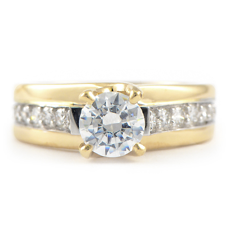 Custom engagement rings in yellow gold minneapolis mn for Wedding rings minneapolis