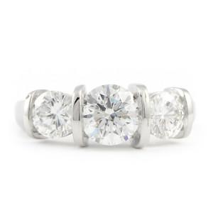 Custom Diamond Engagement Ring in Platinum