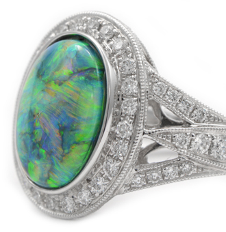 Black Opal Gemstone Jewelry