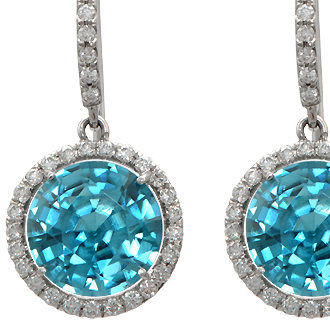 Blue Zircon Gemstone Jewelry