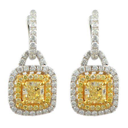 natural fancy yellow diamond earrings minneapolis mn