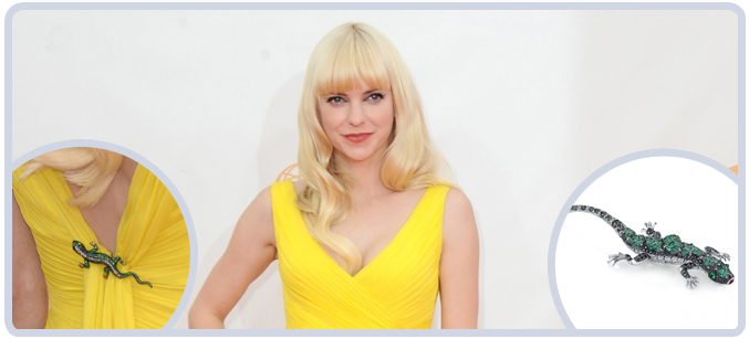Anna Faris at the 65th Emmy Awards Red Carpet