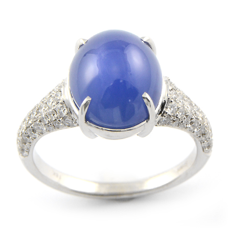 Cornflower Blue Sapphire Ring Cabochon Cut Wixon Jewelers