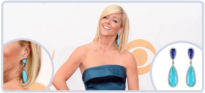 Jane Krakowski's Earrings at 2013 Emmys