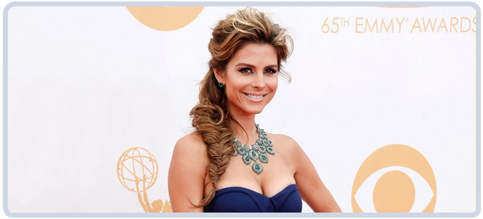 Maria Menounos Emerald Jewelry at 65th Emmy Awards